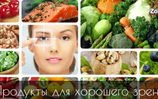 Что полезно для зрения глаз продукты