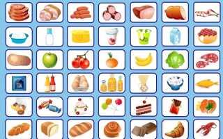 Картинки вредные и полезные продукты