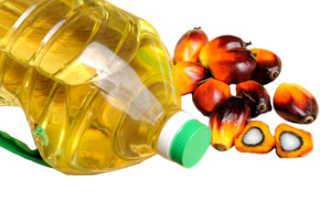 Пальмовое масло польза