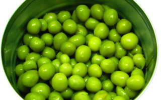 Польза и вред зеленого горошка консервированного