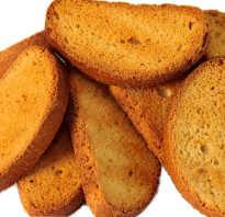 Польза сухарей из белого хлеба