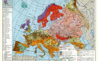 Карта полезные ископаемые европы