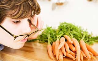 Полезна для зрения морковь