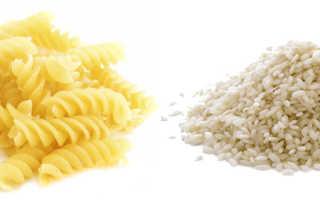 Рис или макароны что полезнее