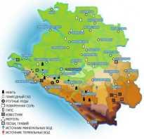 Полезные ископаемые в краснодарском крае