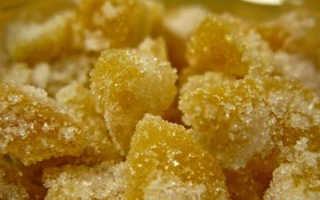 Полезные свойства имбирь в сахаре