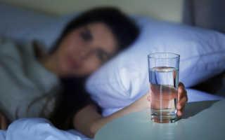 Пить воду ночью полезно или вредно