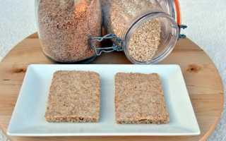 Льняные хлебцы полезный перекус